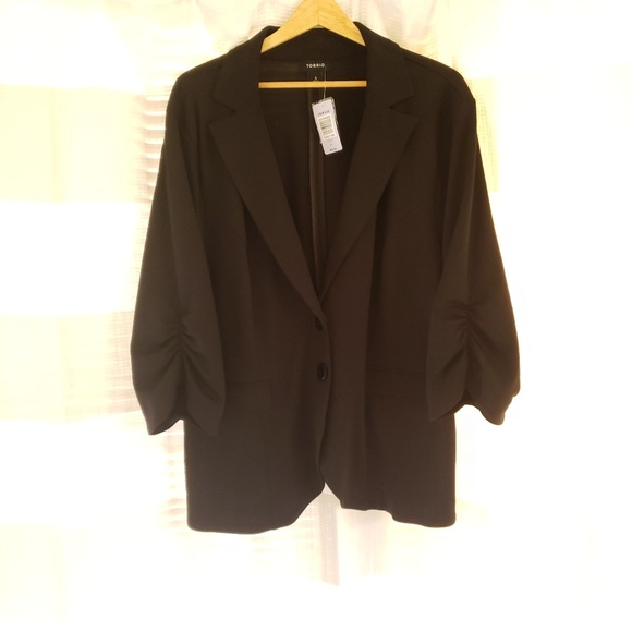 torrid Jackets & Blazers - Torrid Black Draped Blazer Jacket